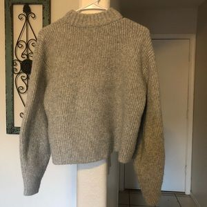 Grey thick knit sweater